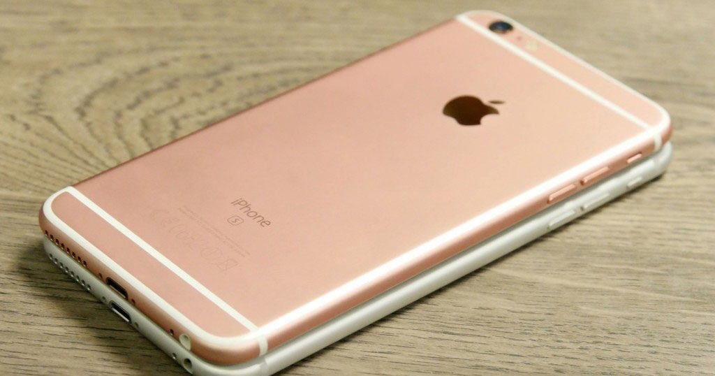 iPhone 6s white and iPhone 6s pink