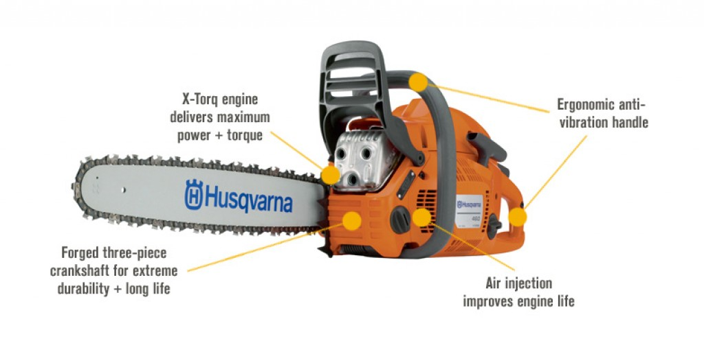 Best Gas Chainsaw for the Money No.1: Husqvarna 460 Rancher - under 550 dollars