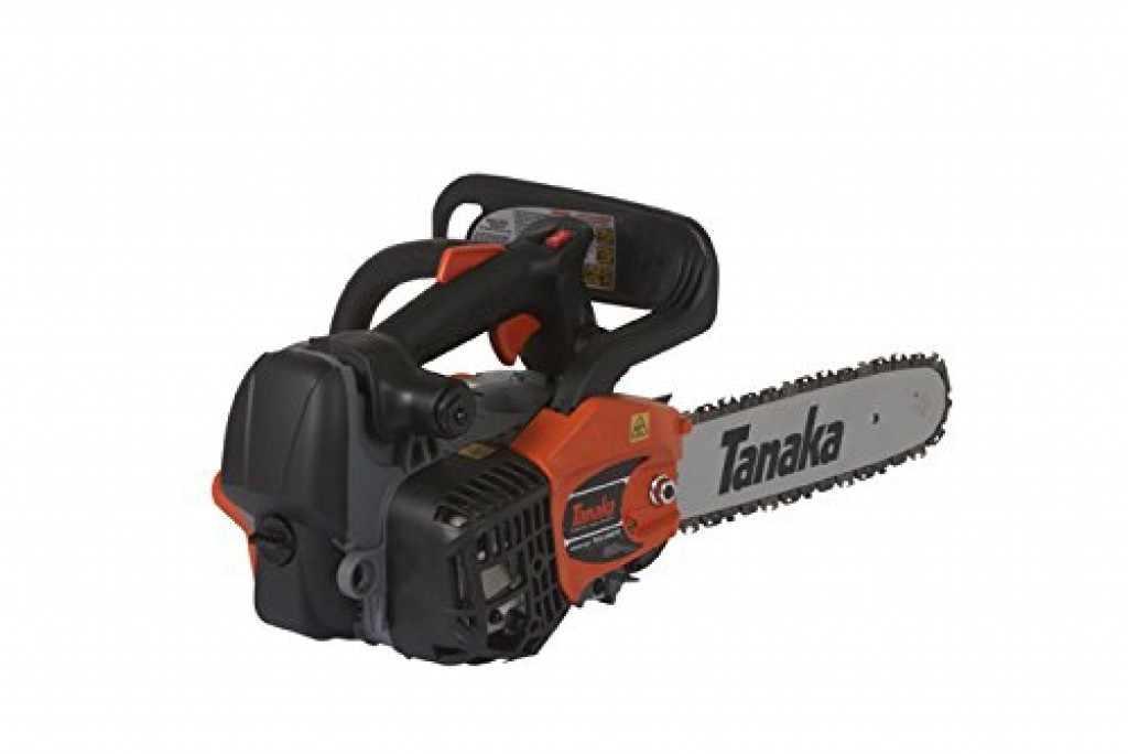 Best Gas Chainsaw for the Money No.2: Tanaka TCS33EDTP - best top-handle chainsaw under 300 dollars
