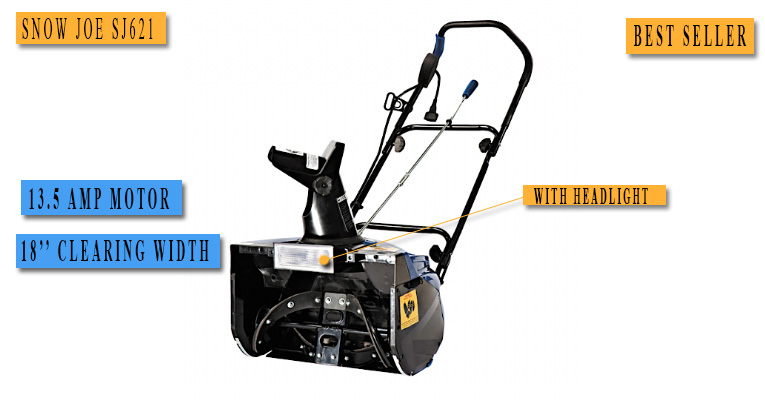 Best Electric Snow Blower No.2: Snow Joe SJ621 bestseller for the price under 200 dollars