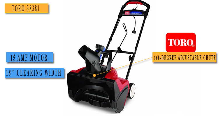Best Electric Snow Blower No.5: TORO 38381 - price under $250