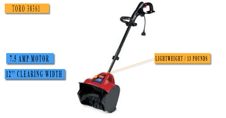 Best Electric Snow Blower No.4: TORO 38361 - price under 100 dollars