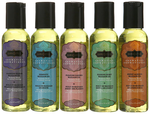 Best Vday Gifts for Her No.13: Kama Sutra Massage Oils, (2 Oz) 59 ml Set of Five