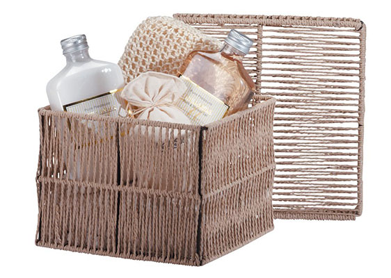 Best Vday Gifts for Her No.12: Vanilla Milk Bath Gift Set Rustic Cord Box Gel Lotion
