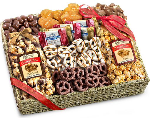 Best Vday Gifts for Her No.10: Chocolate, Caramel and Crunch Grand Vday Gift Basket
