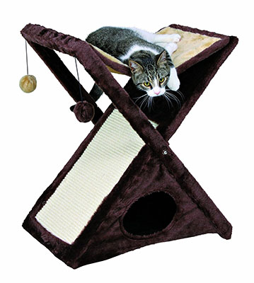 Cat Gifts for Cat Lovers No.10: TRIXIE Pet Products Miguel Fold and Store Cat Tower