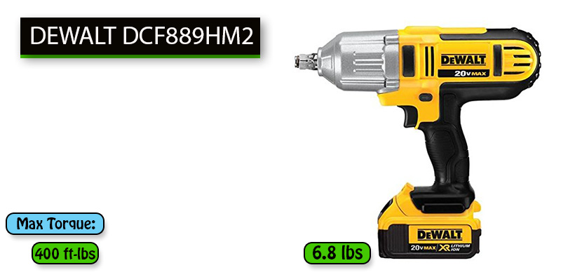 Best Cordless Impact Wrench for Lug Nuts No.1: DEWALT DCF889HM2