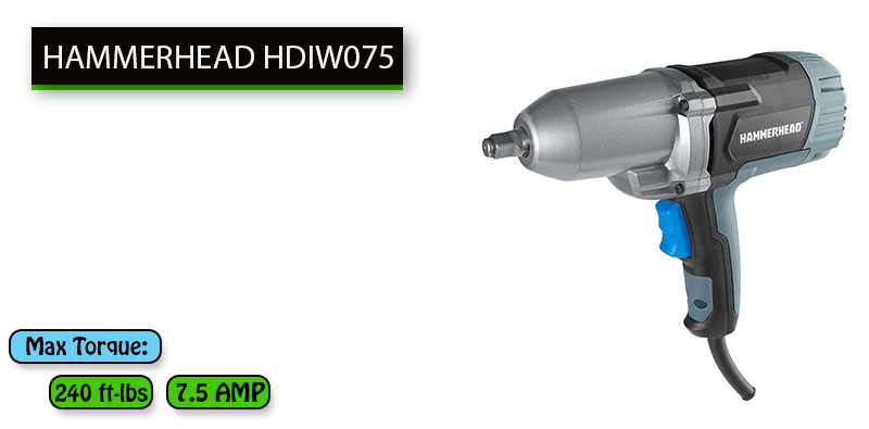 Best Electric Impact Wrench Under 100 dollars No.1: HAMMERHEAD HDIW075