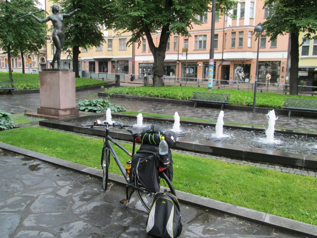 Image 2: Me traveled through Finland with the eTrex 20 GPS.