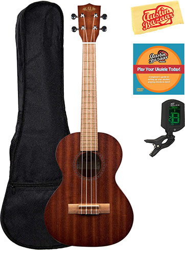 Kala KA-15T Satin Mahogany Tenor Ukulele Bundle with Gig Bag